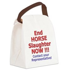 donteathorses2 Canvas Lunch Bag