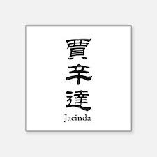 """Jacinda Square Sticker 3"""" x 3"""""""