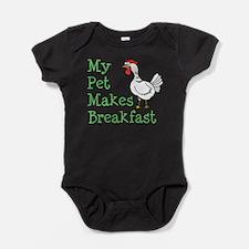 Pet Makes Breakfast Baby Bodysuit