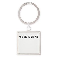 Lost Numbers Square Keychain