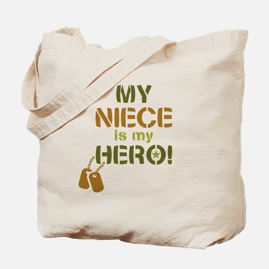 Dog Tag Hero Niece Tote Bag