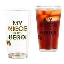 Dog Tag Hero Niece Drinking Glass