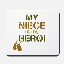 Dog Tag Hero Niece Mousepad