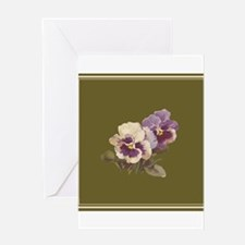 Purple Pansies by Catherine Klein Greeting Cards