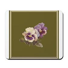 Purple Pansies by Catherine Klein Mousepad