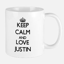 Keep Calm and Love Justin Mugs