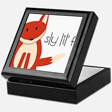 Sly Lil Fox Keepsake Box