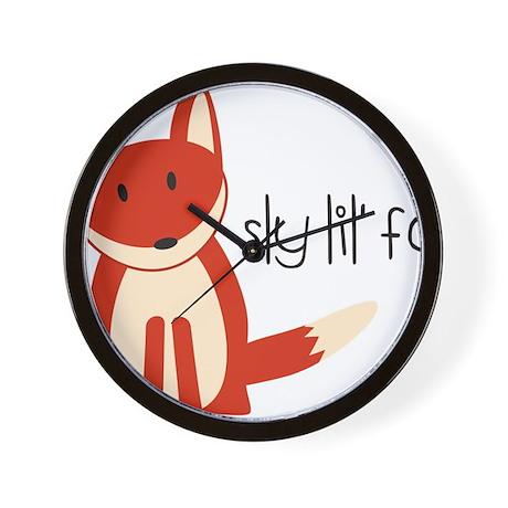 Sly Lil Fox Wall Clock