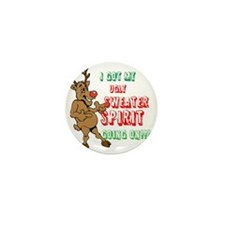 Sydney the Ugly Christmas Sweater Rein Mini Button