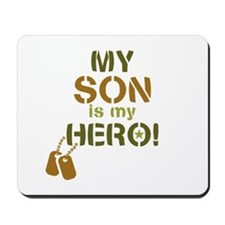 Dog Tag Hero Son Mousepad