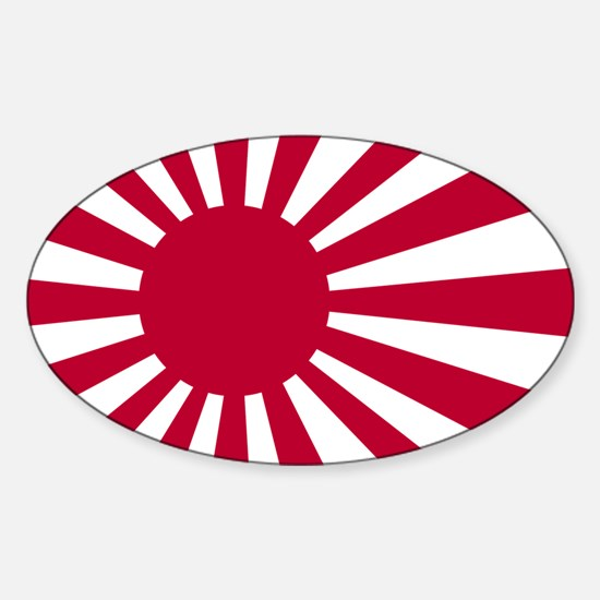 rising sun flag for colored shirts Sticker (Oval)