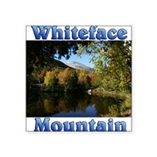 """Whiteface P Throw pillow Square Sticker 3"""" x 3"""""""