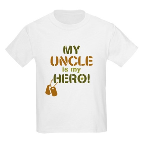 Dog Tag Hero Uncle Kids Light T-Shirt