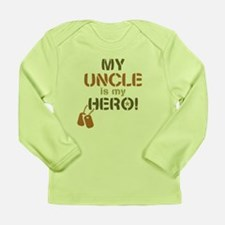 Dog Tag Hero Uncle Long Sleeve Infant T-Shirt