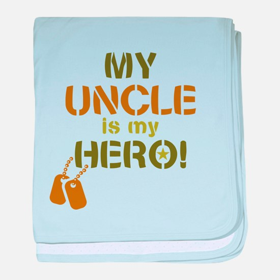 Dog Tag Hero Uncle baby blanket