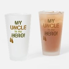 Dog Tag Hero Uncle Drinking Glass