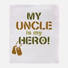 Dog Tag Hero Uncle Throw Blanket