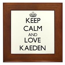Keep Calm and Love Kaeden Framed Tile