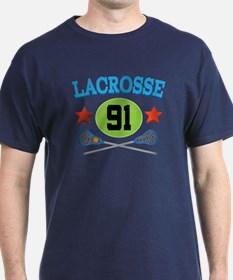 Lacrosse Player Number 91 T-Shirt