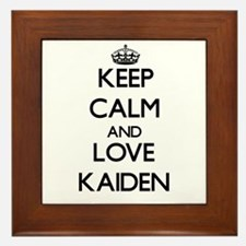Keep Calm and Love Kaiden Framed Tile