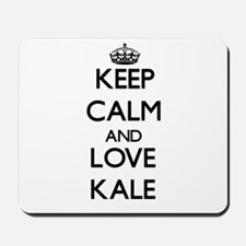 Keep Calm and Love Kale Mousepad
