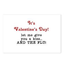 Valentine (flu) Bug Postcards (Package of 8)