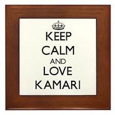 Keep Calm and Love Kamari Framed Tile