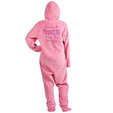 princess burp copy Footed Pajamas