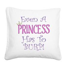 princess burp copy Square Canvas Pillow
