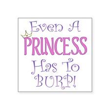 """princess burp copy Square Sticker 3"""" x 3"""""""