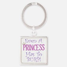 princess burp copy Square Keychain