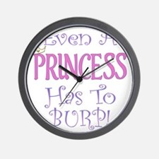 princess burp copy Wall Clock