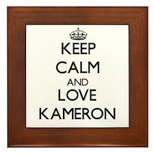 Keep Calm and Love Kameron Framed Tile