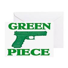 GREEN PIECE Greeting Card
