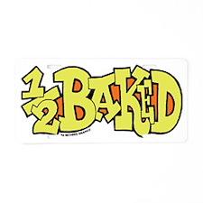 half_baked_2 Aluminum License Plate