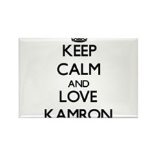 Keep Calm and Love Kamron Magnets