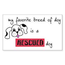 rescueddog Decal