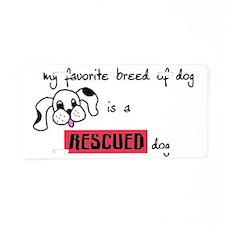 rescueddog Aluminum License Plate