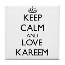 Keep Calm and Love Kareem Tile Coaster