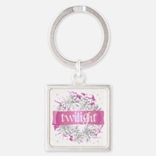 twilight pink wreath 2 copy Square Keychain