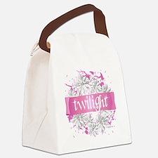 twilight pink wreath 2 copy Canvas Lunch Bag