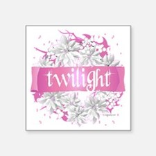 "twilight pink wreath 2 copy Square Sticker 3"" x 3"""