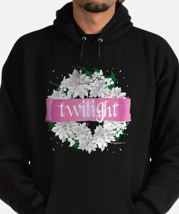 twilight pink and green wreath copy Hoodie (dark)