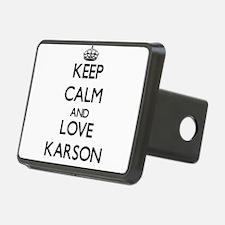 Keep Calm and Love Karson Hitch Cover