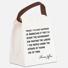 Jefferson-(future-happiness)-whit Canvas Lunch Bag