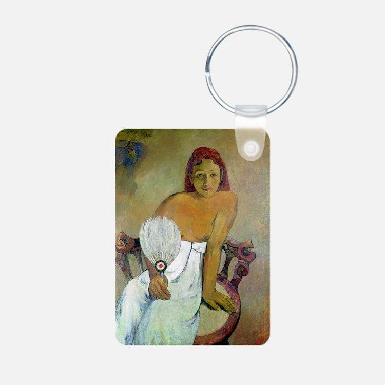 Paul Gaugin Girl With Fan Keychains
