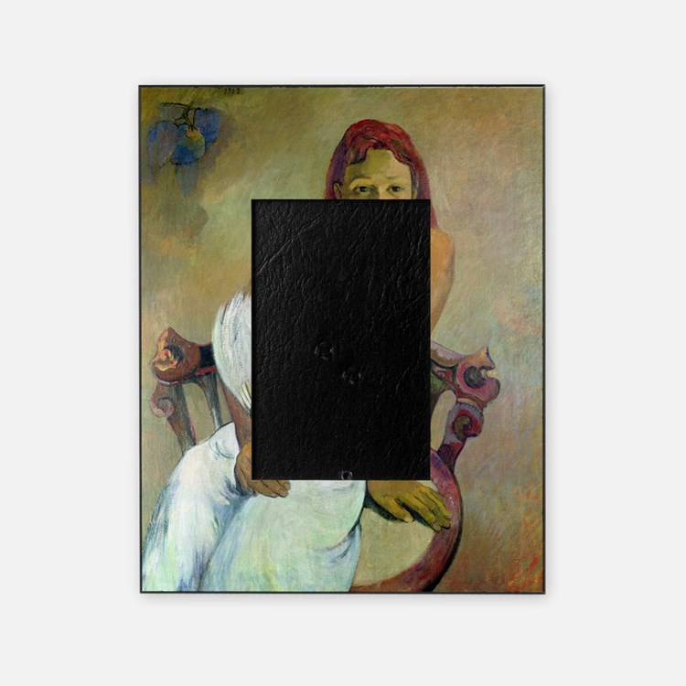 Paul Gaugin Girl With Fan Picture Frame