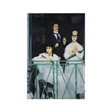 The Balcony by Edouard Manet Rectangle Magnet