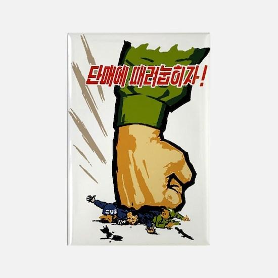 North Korean propaganda t-shirt Rectangle Magnet