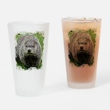 GroundHogTile Drinking Glass